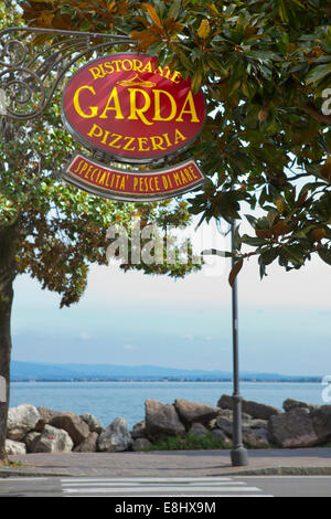 Desenzano del Garda is a town and comune in the province of Brescia, in Lombardy, Italy, on the southwestern shore - Stock Photo