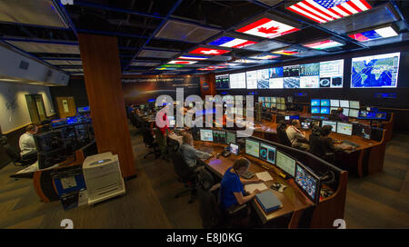 NASA unveiled June 19 an upgraded Payload Operations Integration Center at the Marshall Space Flight Center in Huntsville, - Stock Photo