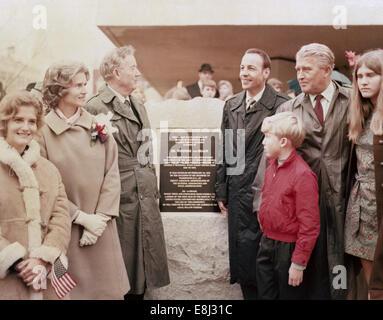 In February 1970, Dr. Wernher von Braun, director of the NASA Marshall Space Flight Center in Huntsville, Ala., - Stock Photo