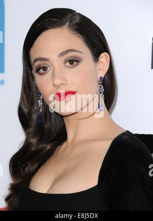 Los Angeles, California, USA. 8th Oct, 2014. EMMY ROSSUM attending the premiere of 'You're Not You' held at The - Stock Photo