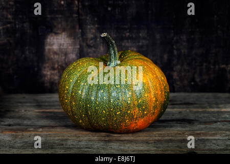 Pumpkin  on old wooden table