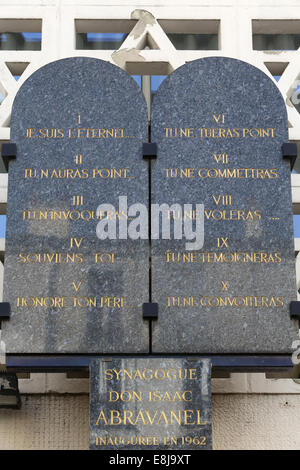 Don Isaac Abravanel synagogue. The 10 Commandments - Stock Photo