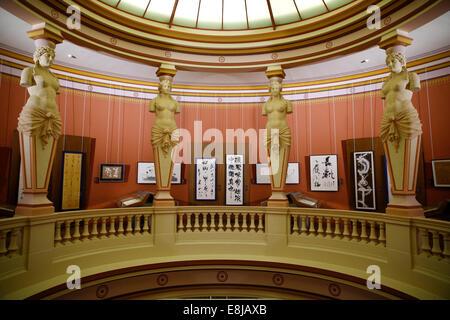 Library of the MusŽe Guimet. Museum of Asian Arts. Paris. - Stock Photo