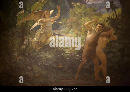 Adam & Eve rejected by god - Stock Photo