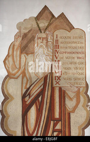 Moses and the 10 Commandments - Stock Photo