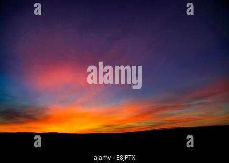 Desert sunset Photographed in Israel, Negev - Stock Photo
