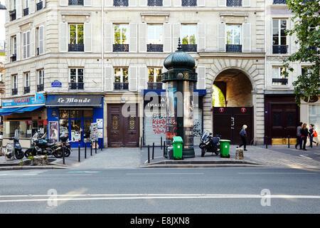 Boulevard Beaumarchais in Paris - Stock Photo