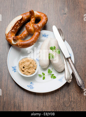 Savoury German Sausages - Stock Photo