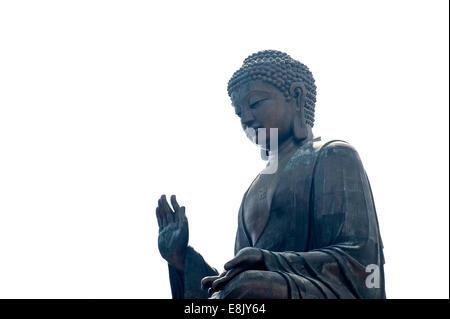 Giant Buddha Statue, Po Lin Monastery, Lantau, Hong Kong, China - Stock Photo