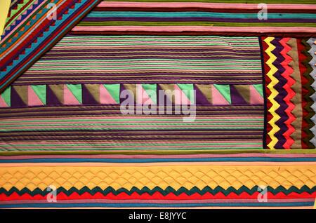 Fabric texture, cloth background Thai Style - Stock Photo