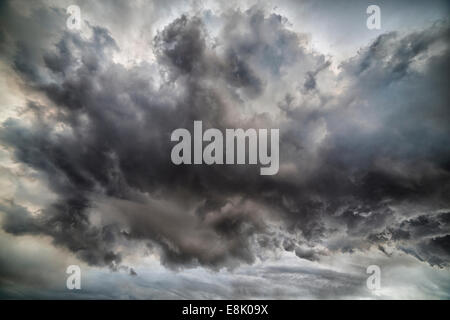 Ash clouds with toxic gases, Holuhraun Fissure Eruption, Iceland. - Stock Photo