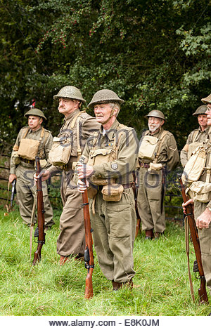 World War Two Re-enactment.  Home Guard - Stock Photo