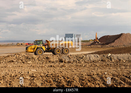 """Hinkley Point Somerset, UK. 9th October, 2014. Construction work on the new EDF Energy Hinkley Point """"C"""" nuclear - Stock Photo"""