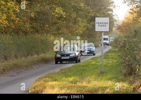 Leicestershire Rural Roads. 9th October, 2014.  New figures from the Department for Transport show that on average - Stock Photo