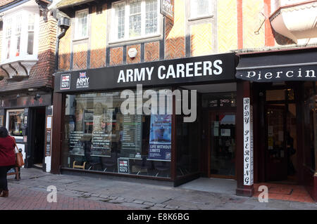 army careers recruitment office building in city of canterbury county of kent uk 2014 - Stock Photo