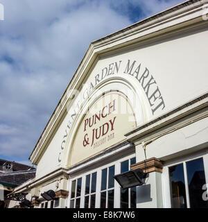 Punch and Judy Balcony Bar Covent Garden Market London UK - Stock Photo