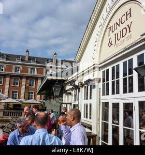 Punch and Judy Balcony Bar Covent Garden London UK - Stock Photo