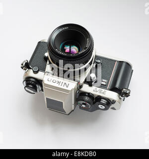 Nikon F3 titanium Japanese film camera.