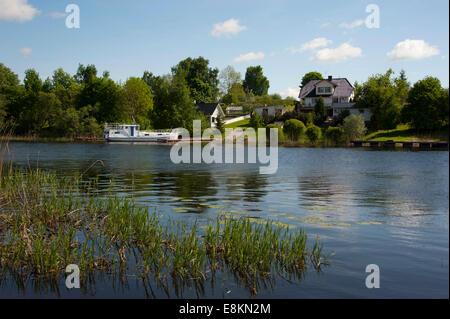 Emajogi River, Kavastu, Tartu District, Estonia, Baltic States - Stock Photo