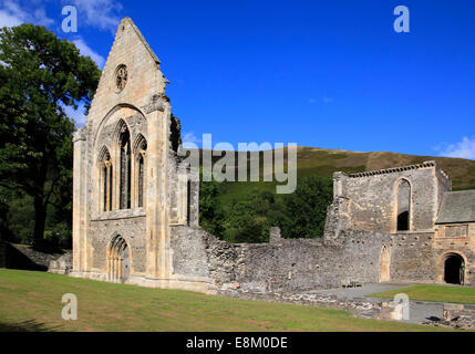 Valle Crucis Abbey ruins, Llangollen, Denbighshire, Wales, Europe - Stock Photo