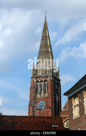 Lyndhurst New Forest Hampshire England St Michael And All Angels Church Built 1858 - 1870 - Stock Photo