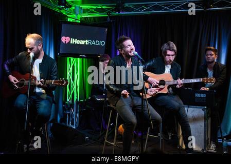Bala Cynwyd, Pennsylvania, USA. 10th October, 2014. British Indie Rock Band Fenech-Soler Perform at Radio 104.5's - Stock Photo
