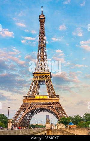 Eiffel Tower at the evening - Stock Photo