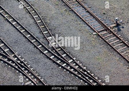 Train tracks, Germany, Europe - Stock Photo