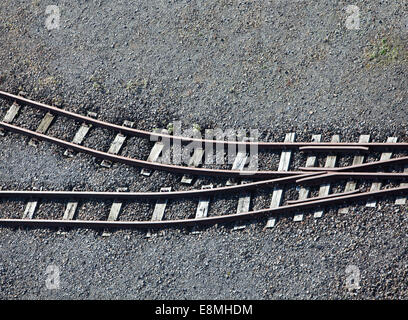 Train tracks, Germany, Europe, - Stock Photo