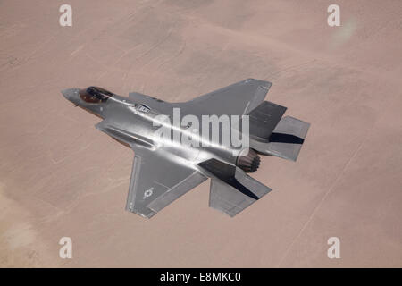 June 11, 2014 - An AF-2, the second production F-35 Lightning II of the U.S. Air Force, flies over Edwards Air Force - Stock Photo