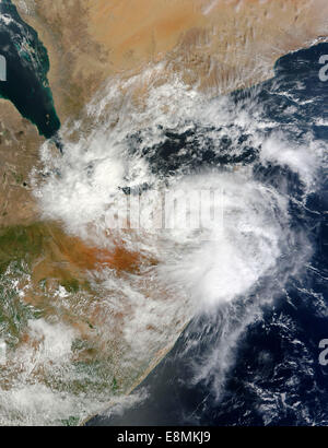 November 11, 2013 - Tropical Cyclone 3A over Puntland, Somalia. - Stock Photo