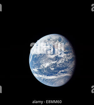 July 16, 1969 - Planet Earth taken by the Apollo 11 crew on their outbound journey from Earth to the Moon. California, - Stock Photo