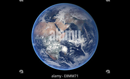 March 30, 2014 - Composite image of the eastern hemisphere on planet Earth. - Stock Photo