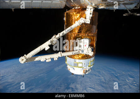 July 29, 2012 - The Japan Aerospace Exploration Agency (JAXA) H-II Transfer Vehicle (HTV-3), currently attached - Stock Photo