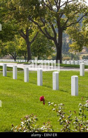 Black Hills National Cemetery, Sturgis, South Dakota, USA - Stock Photo