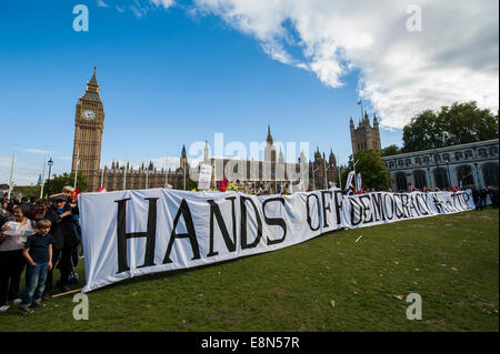 London, UK. 11th Oct, 2014. No TTIP European Day of Action – as part of a day of protest across the EU.  The Transatlantic - Stock Photo