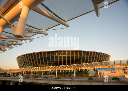 The main terminal building at Nice Airport in the south of France. - Stock Photo