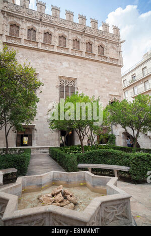Llotja de Mercaders or de la Seda, Valencia,Spain. - Stock Photo