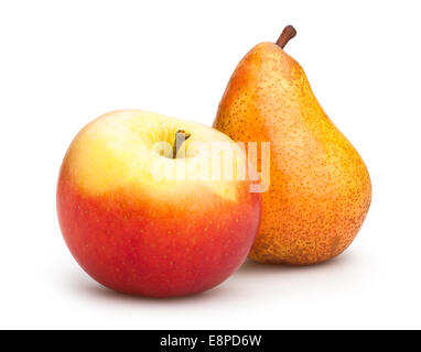 apple and pear isolated - Stock Photo