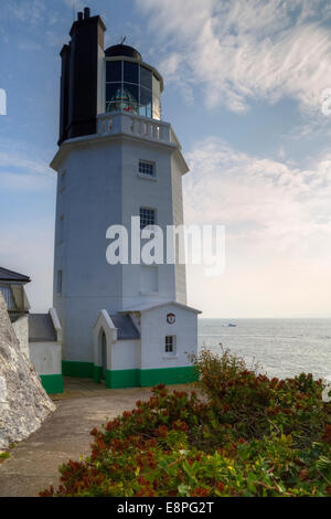 St Anthony's Lighthouse, St Mawes, Cornwall, England, United Kingdom - Stock Photo