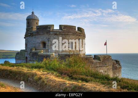 St Mawes, Castle, Cornwall, England, United Kingdom - Stock Photo