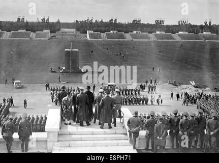 Nuremberg Rally 1936 in Nuremberg, Germany - Last rehearsal of the roll call of the P.O. ('Politische Organisation, - Stock Photo