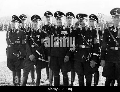 Nuremberg Rally 1937 in Nuremberg, Germany - Nazi party rally grounds - SS-Obergruppenfuehrer and Munich's chief - Stock Photo
