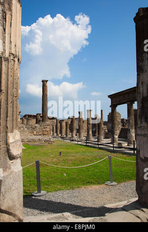 The city of Pompeii was an ancient Roman city. The eruption killed the city's inhabitants and buried it under tons - Stock Photo