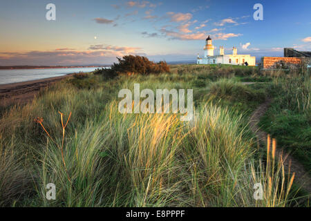 Chanonry Point Lighthouse on Black Isle in Scotland. - Stock Photo