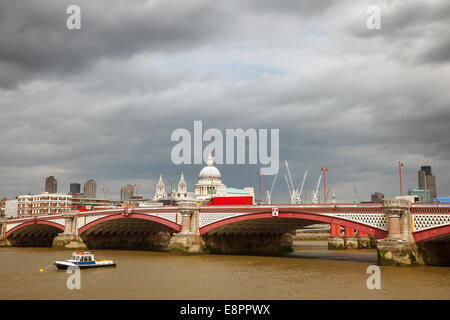 Blackfriar's Bridge, London - Stock Photo