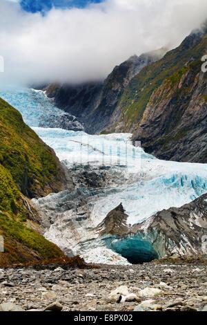 Franz Josef glacier, Southern Alps, New Zealand - Stock Photo