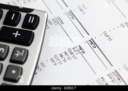 Analyzing financial statements. Stock Photo