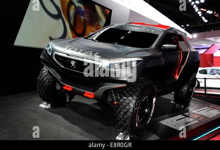 2008 DKR Peugeot concept car,Paris Motor Show,France - Stock Photo