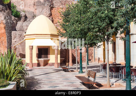 Part of Silves Town Square with Moorish architecture situated below city hall - Stock Photo